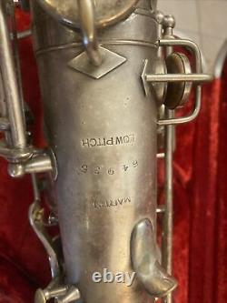 1920s Martin Handcraft Low Pitch Sax Elkhart IND -SN# 64935 AS-IS ROUGH COND