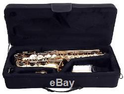 ALTO SAXOPHONE SAX Eb TUNING MOUTHPIECE CASE CLEANING ROD GLOVES BRASS SET