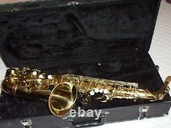 Alpine Alto Saxophone With Mouthpiece, Strap, Reed. Plays Great, Nice
