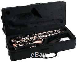 Alto Saxophone Brass Wind Instrument Sax Red Set Case Mouthpiece Cleaning Rod
