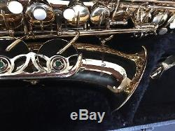 Antigua winds alto sax saxophone with selmer mouthpiece gone over by tech plays