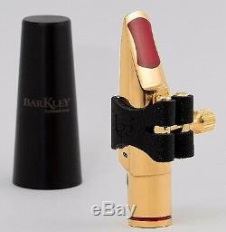 Barkley Malbec 8 Metal Gold Alto Sax Mouthpiece with Lig & Cap Made in Brazil