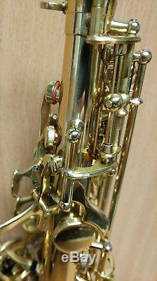 Gear4Music Soprano Saxophone Light Gold with two Mouthpieces UK Seller