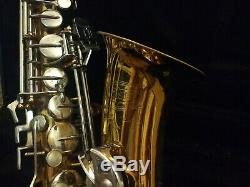 Gold and Silver Finish Bundy II Alto Saxophone /w case, two mouthpieces