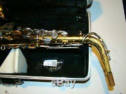 KIng 613 Alto Sax in case w Neck Ligature Mouthpiece Cap Made in USA
