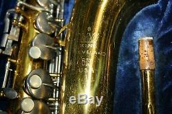 King Cleveland 613 Alto Saxophone Serial Number 628527 With Mouth Piece & Case
