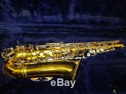 King Cleveland 613 Alto Saxophone in Playing Condition w\ Orig Case & Mouthpiece