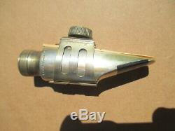 OTTO LINK Eb ALTO 1ST METAL MOUTHPIECE With RIDGE FOR LIG ORGL FACING 5 NY 1940's