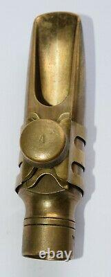 Otto Link Double Ring Alto Sax Mouthpiece #5=75 Tip with cap and A Ligature