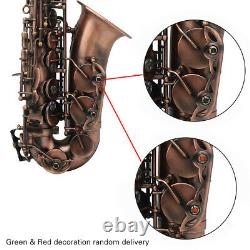 Professional Alto Saxophone Red Bronze Eb Sax with Case Mouthpiece Reeds Q2N3