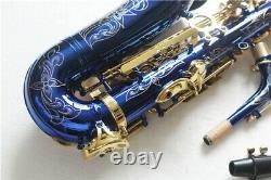 Professional Blue Gold Eb Alto Saxophone Sax With Case Low Bb to High F#