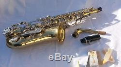 SELMER AS300 Eb Alto SAXOPHONE With Mouthpiece and CASE