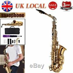 STANDARD GOLDEN BRASS Eb ALTO SAXOPHONE SAX With BOX, GLOVES, MOUTHPIECE, GREASE, WIPE