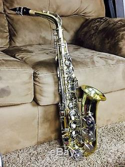 Selmer Alto Saxophone (Sax) with Mouthpiece / Strap / Case Gold Color Original