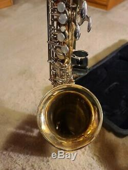 Selmer Bundy II Alto Saxophone Made In USA With Hard Case & Mouthpiece NICE
