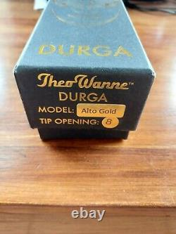 Theo Wanne Durga 3 Gold Plated Alto Saxophone Mouthpiece no. 8