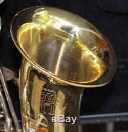 Used Bundy II Alto Saxophone with Selmer hard case and mouthpiece Made in USA