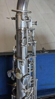 Vintage Alto Saxophone, 1930's hand made in Bohemia with the original mouthpiece