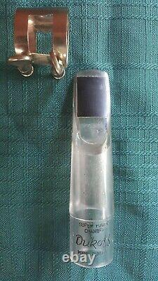 Vintage Clear Dukoff Miami Super Power Chamber Alto Sax Mouthpiece D7 With Lig