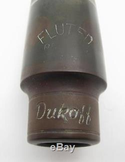 Vintage Dukoff Fluted Chamber (. 080) Alto Saxophone Mouthpiece