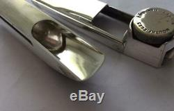 Vintage Geoff Lawton rare silver plated 7 starB Alto mouthpiece