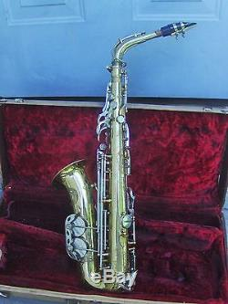 Vintage Noblet France Alto Saxophone sn 13165 with Mouthpiece & Case