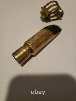 Vintage Otto Link Indiana 6 STM Saxophone Mouthpiece and ligature 3 1/2 inches