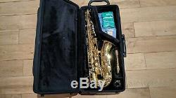 Yamaha YAS280 Eb Alto Saxophone in Gold Lacquer with Mouthpiece, Case and Stand