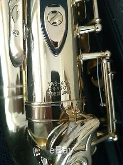 Yamaha YAS-475 Alto Saxophone Made in Japan with Hard Case and Mouthpiece
