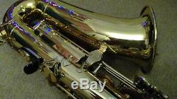 Yamaha YAS-E1 Alto Saxophone Gold very good condition with reeds and mouthpiece